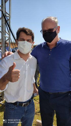 Prefeito Marcos Henrique Chiaradia e o Deputado Alexandre Curi