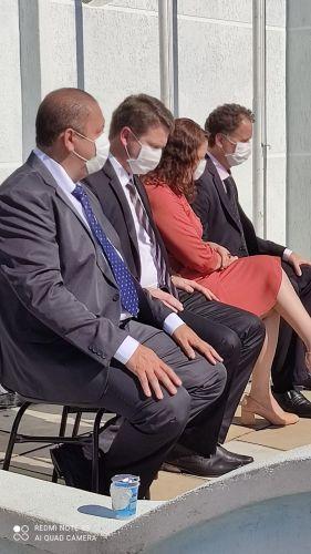 Prefeito Celso Kubaski e sua Esposa. Vice prefeito Zaqueu Bobato E o Presidente da Câmara de imbituva.