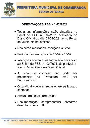 PSS nº. 02/2021