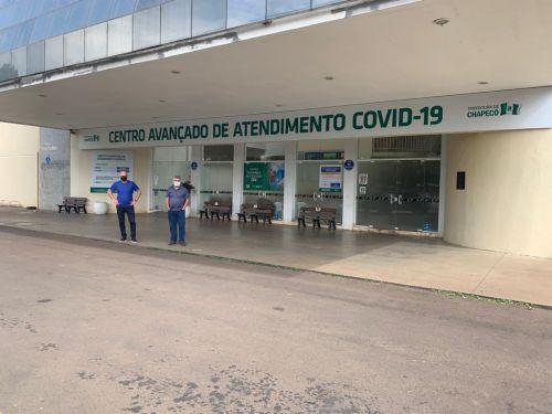 Prefeito Marcos Henrique Chiaradia e Cel. Luiz Carlos Balsan.