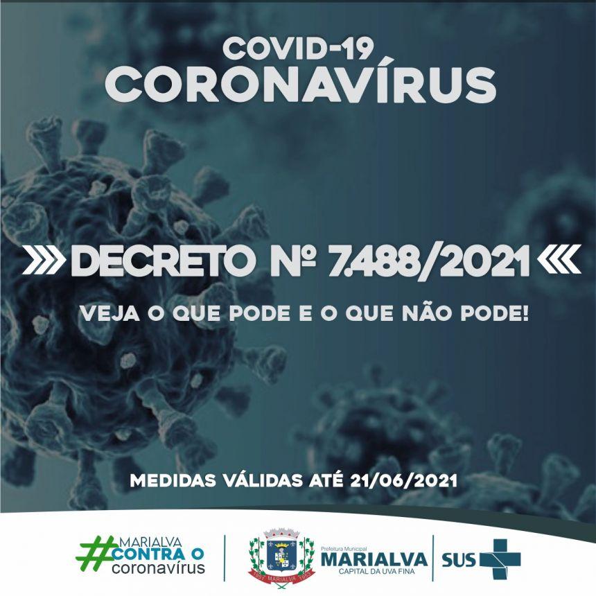 Prefeitura prorroga até 21 de junho o decreto vigente com medidas em relação à pandemia