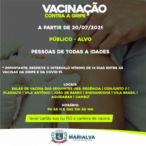 Vacinação contra a gripe é retomada em Marialva