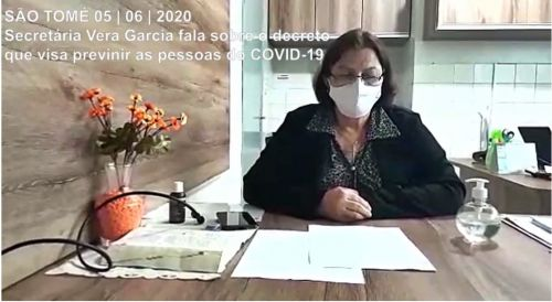 Vídeo pronunciamento da secretária de saúde