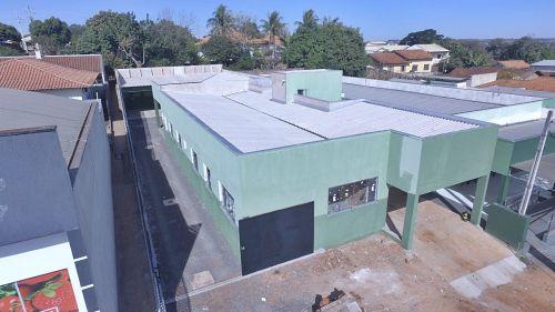 Construção do prédio de ampliação da UBS dona Tereza Garcia em fase final