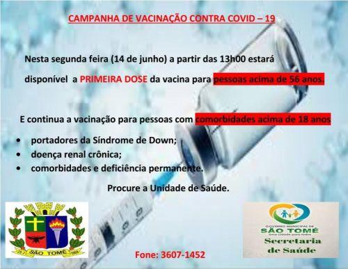 FAIXA ETÁRIA DE VACINAÇÃO COVID 19