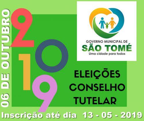 Estão abertas as inscrições para Conselheiro Tutelar de São Tomé