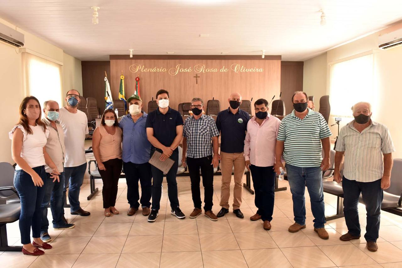 VISITA DO SECRETÁRIO DE INFRAESTRUTURA E LOGÍSTICA (SANDRO ALEX) EM IRETAMA