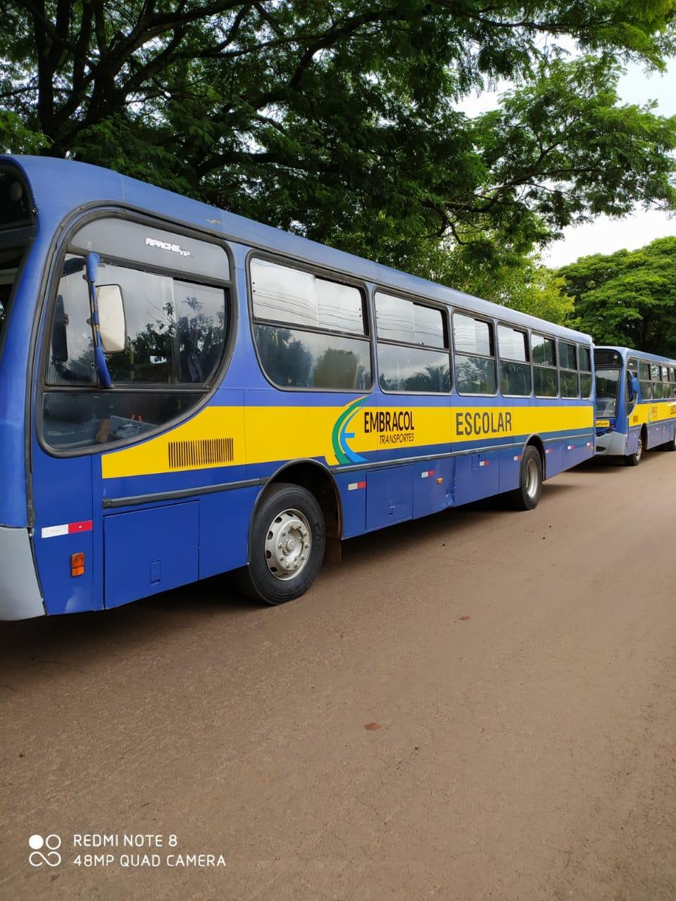 Vistoria  nos ônibus  do Transporte Escolar  das empresas terceirizadas.