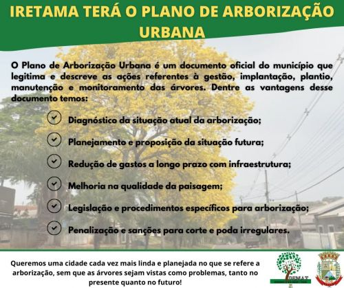 PLANO DE ARBORIZAÇÃO MUNICIPAL
