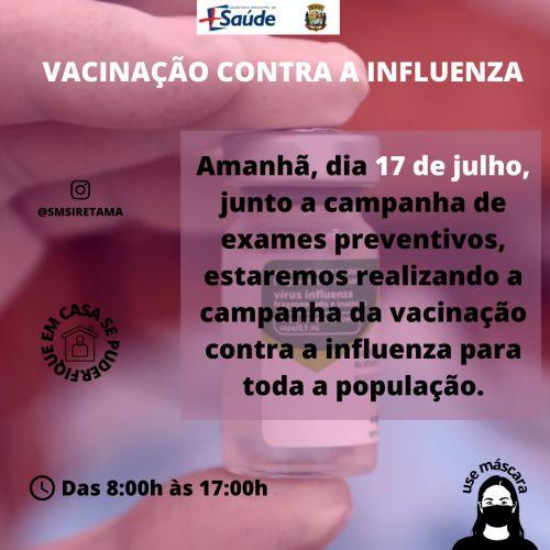 Vacina influenza para população em geral