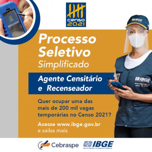 CENSO 2021 - PROCESSO SELETIVO