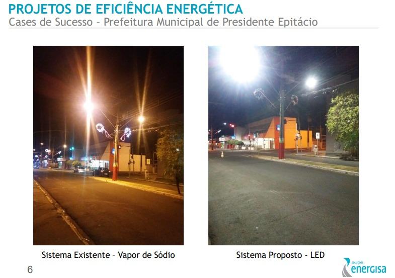 Energisa quer investir R$ 3,5 milhões em Vilhena com LED em 32 km de avenidas e rodovias