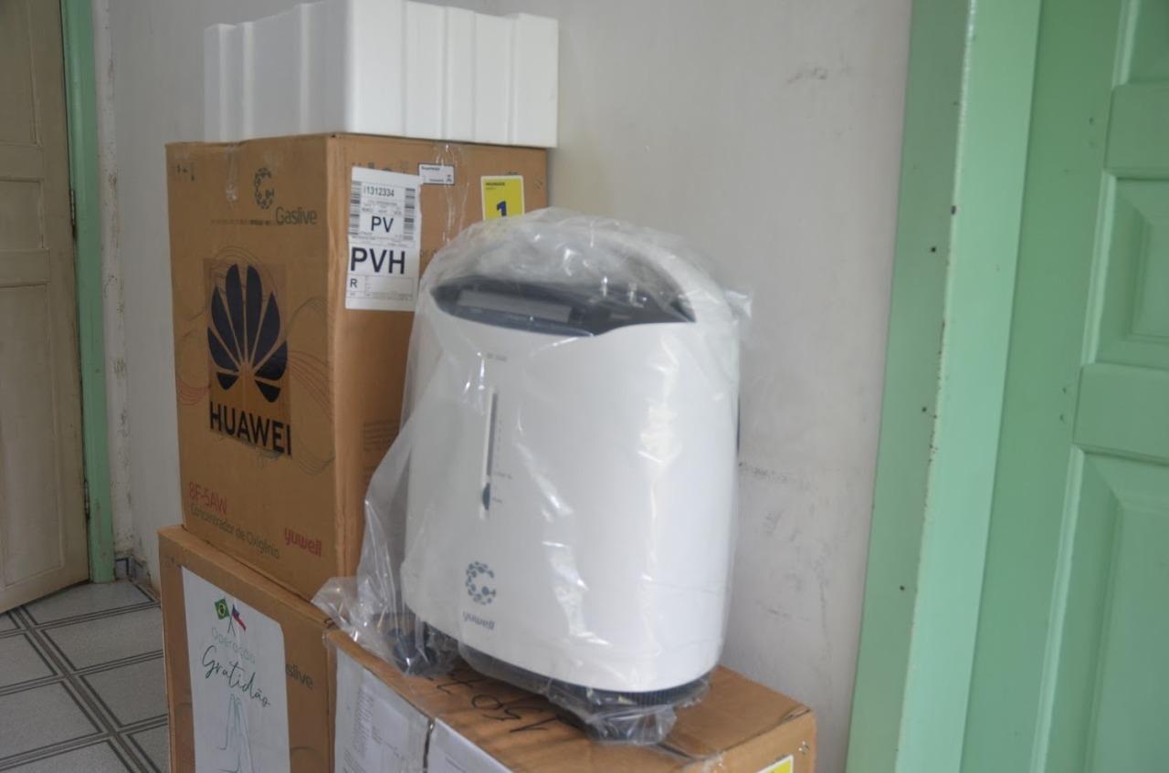 Prefeitura recebe concentradores de oxigênio do Estado para o combate à covid-19
