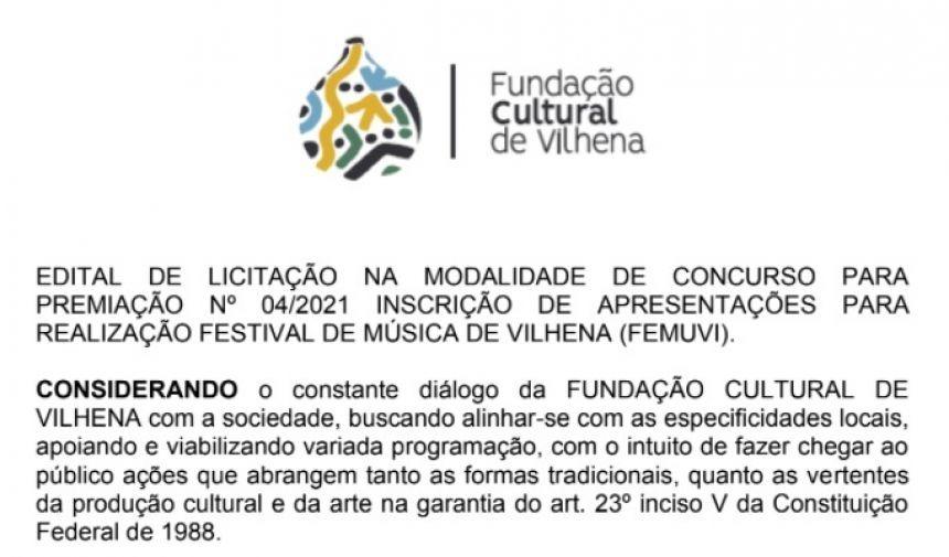 Festival de Música de Vilhena: Fundação tira dúvidas de artistas em reunião nesta quarta-feira, 13