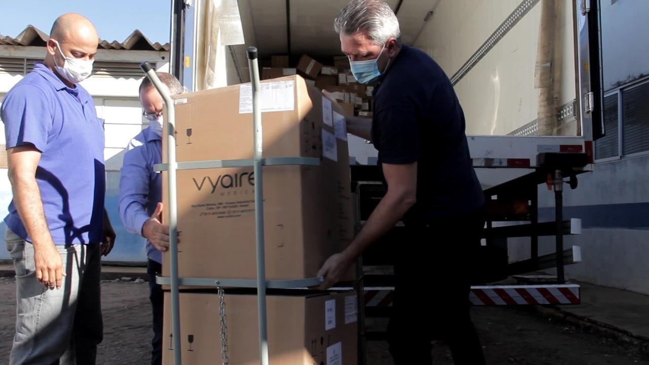Vilhena recebe cinco respiradores do Governo do Federal para atender pacientes graves de covid-19