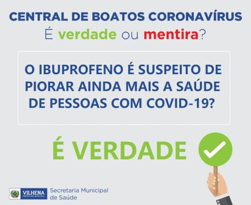CENTRAL DE BOATOS CORONAVÍRUS PMV Nº 04 - É VERDADE OU MENTIRA?