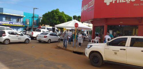 Testes rápidos começam a ser realizados em moradores de diversos bairros de Vilhena em formato drive-thru