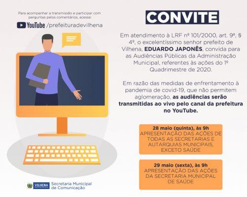 TRANSMISSÃO AO VIVO da audiência permitirá participação de internautas