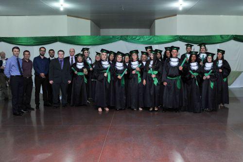 Formatura dos cursos técnicos e profissionalizantes