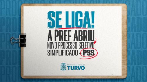 Prefeitura de Turvo abre novo Processo Seletivo Simplificado - PSS
