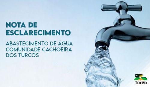 Abastecimento de Água na Comunidade Cachoeira dos Turcos