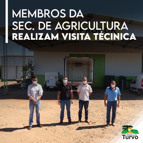 Membros da Secretaria de Agricultura e Pecuária realizam visita técnica