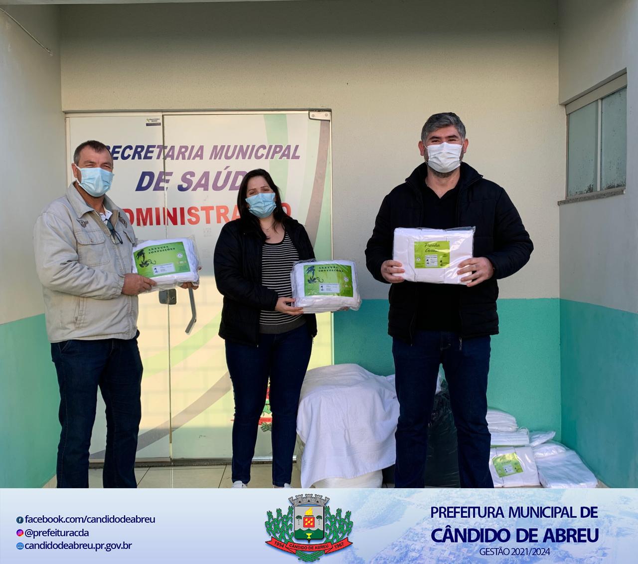 HOSPITAL MUNICIPAL RECEBE DOAÇÃO DE LENÇÓIS, FRONHAS E TOALHAS DE BANHO