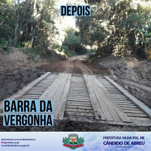 RECUPERAÇÃO DE PONTES - BARRA DA VERGONHA