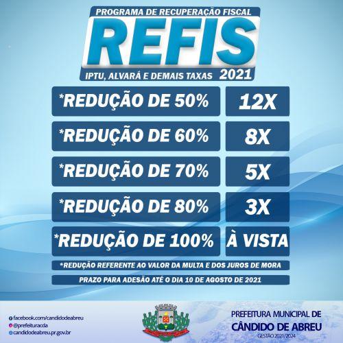 PROGRAMA DE RECUPERAÇÃO FISCAL - REFIS 2021
