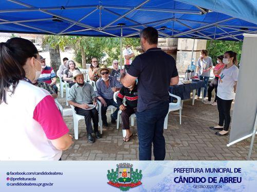 ENCONTRO DA MELHOR IDADE REÚNE IDOSOS PARA PARTICIPAREM DE PALESTRA E CAMINHADA.