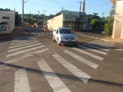 Prefeito Gerson Investe em sinalização de transito para garantir a segurança dos Pedestres.