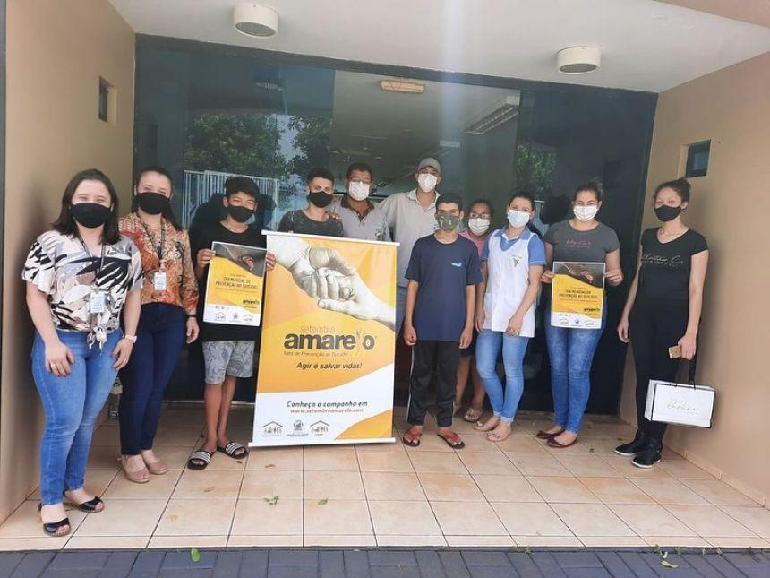 Setembro Amarelo: CRAS de Iracema do Oeste promove campanha de prevenção ao suicídio com alunos do Projeto Saber Viver.