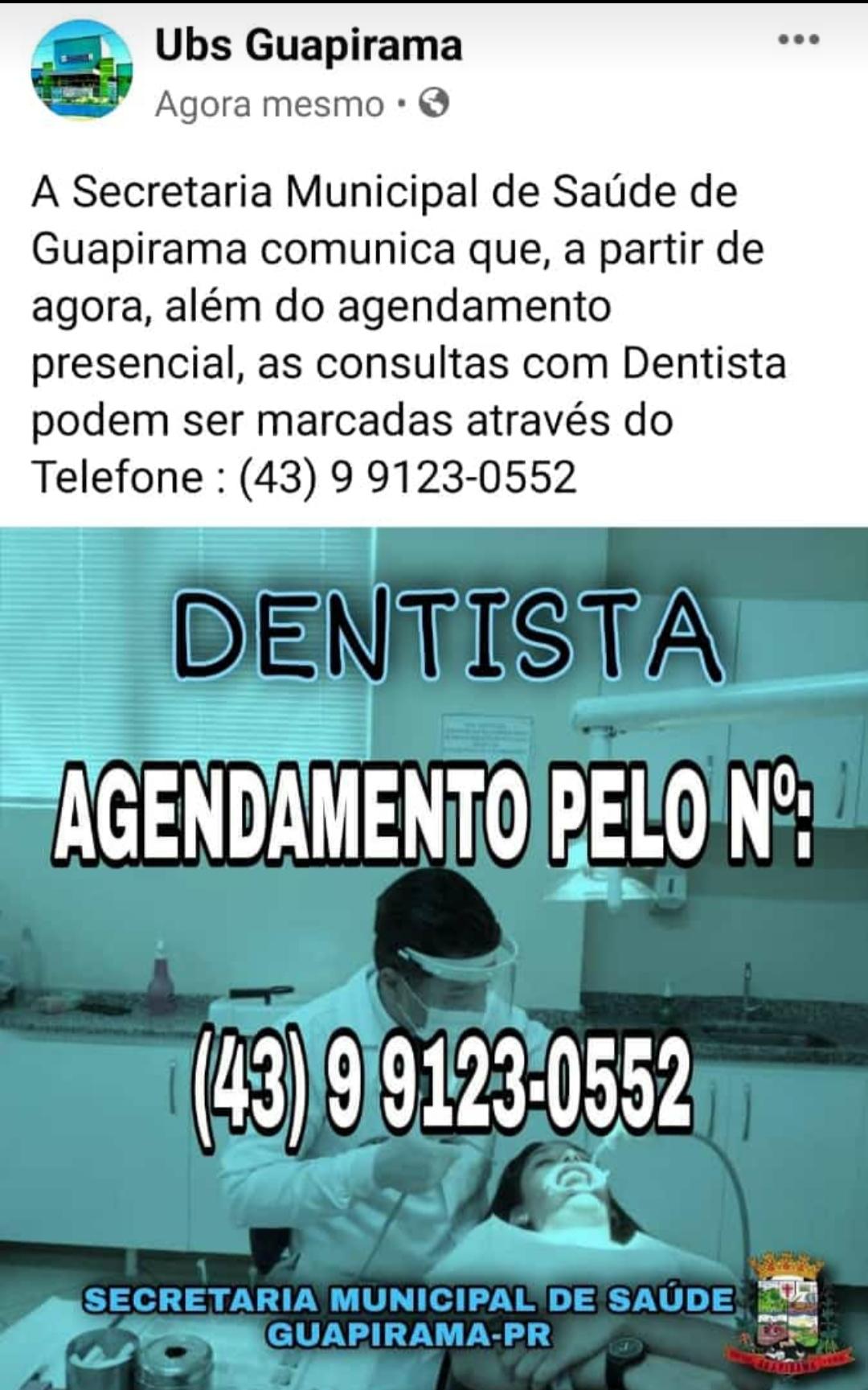 INFORMATIVO SOBRE  ATENDIMENTO ODONTOLÓGICO