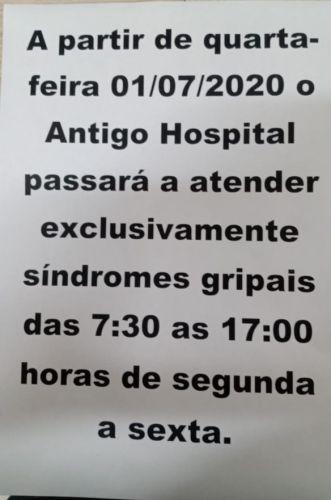 NOVO LOCAL DE ATENDIMENTO DO HOSPITAL