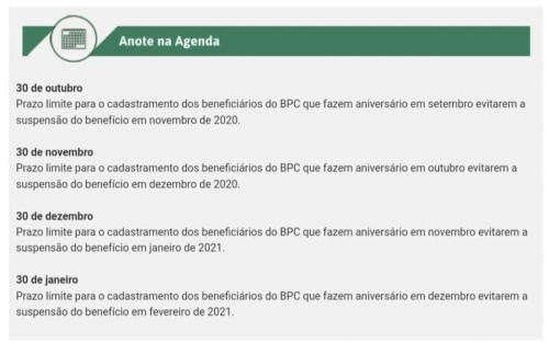 ATENÇÃO BENEFICIÁRIOS DO BPC.