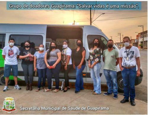 """TERCEIRO GRUPO DE DOADORES GUAPIRAMA: """"SALVAR VIDAS É UMA MISSÃO""""!"""