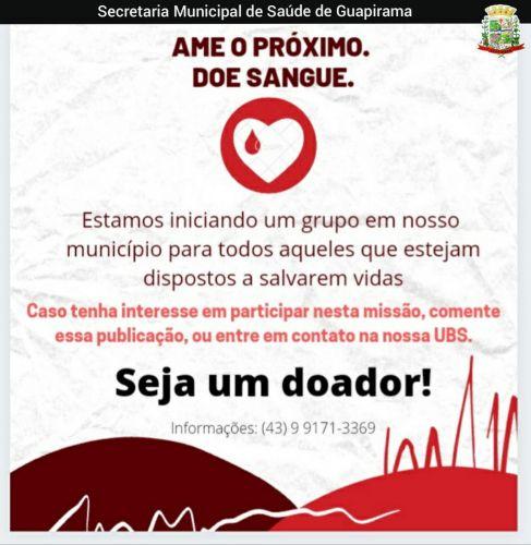 AME O PROXIMO. DOE SANGUE.
