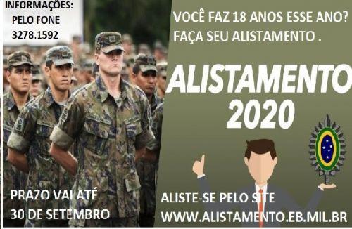 ALISTAMENTO MILITAR 2020