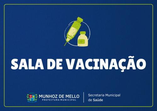 Horário de funcionamento - Sala de vacinação