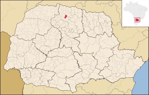 Localização de Munhoz de Mello (em vermelho) no Paraná