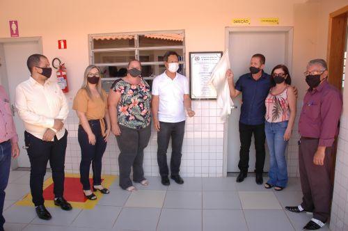 Inauguração das duas novas salas de aula na Escola Municipal Vicente Liberato.