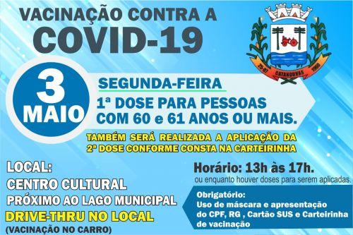 VACINA CONTRA COVID-19 EM CATANDUVAS-PR