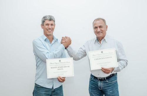 Professor Moisés e Tio Carlos são diplomados prefeito e vice de Catanduvas.
