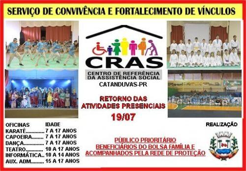 CRAS DE CATANDUVAS INFORMA