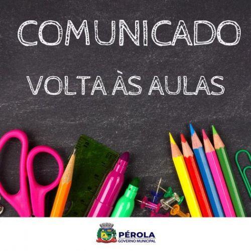 COMUNICADO VOLTA ÀS AULAS