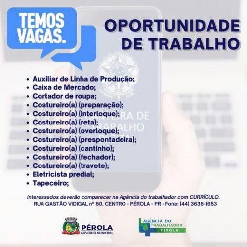 QUARTA DA OPORTUNIDADE DE TRABALHO