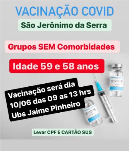 PROXIMA DATA DE VACINACAO DIA 14/06