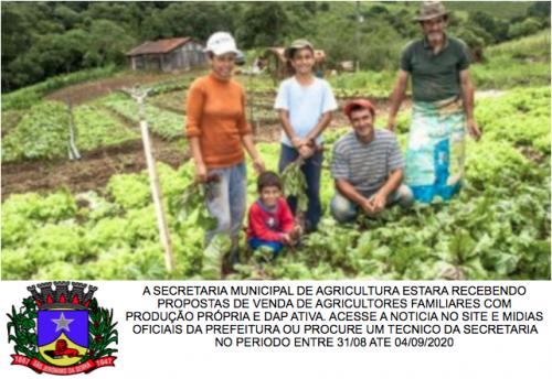 GOVERNO DO ESTADO REPASSARA VERBA PARA AQUISICAO DE PRODUTOS DA AGRICULTURA FAMILIAR