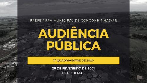 AUDIÊNCIA PÚBLICA REFERENTE AO 3º QUADRIMESTRE DE 2020