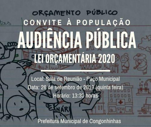 AUDIÊNCIA PÚBLICA LEI ORÇAMENTARIA 2020.